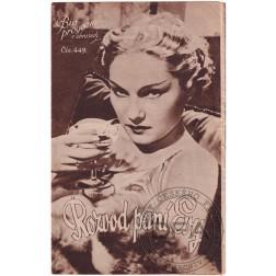 Bio-program 1937/449 Rozvod paní Evy